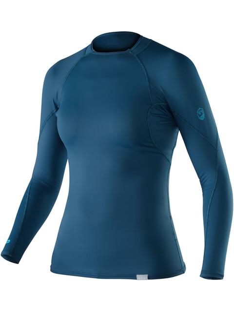 NRS W's Rashguard Long Sleeve Shirt Moroccan Blue